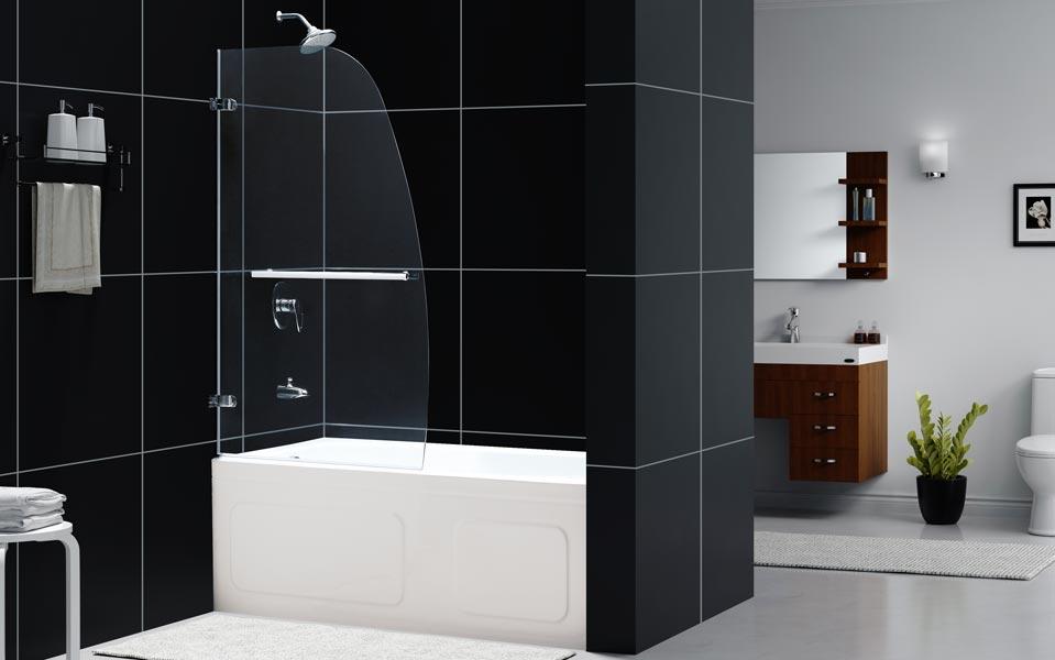 Bathrooms Aqua Tub Uno Door Clear Glass 34 W X 58 H
