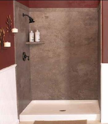 Bathrooms : Elegance - SHOWER SURROUND KIT (48x36x78) 5 Stock Colors
