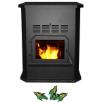 Glow Boy Corn Burning Freestanding Stove Black Door