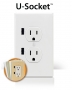 U-Socket - with two built-in USB Ports